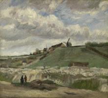 van Gogh, La collina di Montmartre con cava di pietre | De heuvel van Montmartre met steengroeve | La butte de Montmartre avec carrière de pierres | The hill of Montmartre with stone quarry