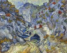 van Gogh, La forra (Les Peiroulets) | Het ravijn (Les Peiroulets) | Le ravin (Les Peiroulets) | The ravine (Les Peiroulets)