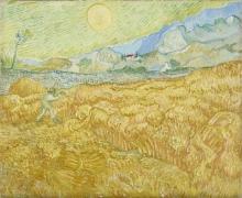 Vincent van Gogh, La mietitura   La moisson   Die Ernte, Kornfeld mit Schnitter   The harvest