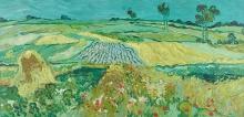 van Gogh, La piana di Auvers   Die Ebene von Auvers   La plaine d'Auvers   The plain of Auvers