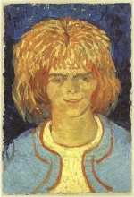van Gogh, La ragazza con i capelli arruffati | Fille avec les cheveux ébouriffés | Girl with ruffled hair | The mudlark