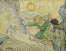 van Gogh, La resurrezione di Lazzaro (da Rembrandt) | De opwekking van Lazarus (naar Rembrandt) | La résurrection de Lazare (d'après Rembrandt) | The resurrection of Lazarus (after Rembrandt)
