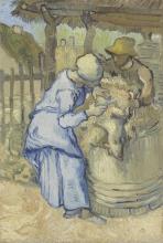 van Gogh, La tosatrice di pecore (da Millet)   De schapenscheerster (naar Millet)   La tondeuse de moutons (d'après Millet)   The sheepshearer (after Millet)