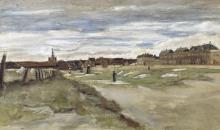 van Gogh, Lavanderia a Scheveningen [recto]   Blanchisserie à Scheveningen [recto]   Bleachery at Scheveningen [recto]