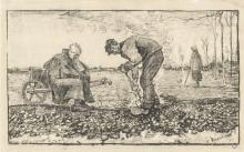 van Gogh, Lavoro dei campi (Bruciatura delle erbacce) | Travail des champs | Burning weeds