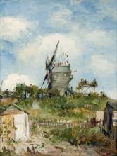 van Gogh, Le Moulin de Blute-fin, Montmartre | The Blute-fin windmill, Montmartre