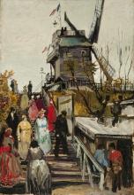 van Gogh, Le Moulin de Blute-fin   The Blute-fin mill