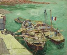Vincent van Gogh, Le barche ormeggiate | Les bateaux amarrés | Rhonebarken | Boats moored