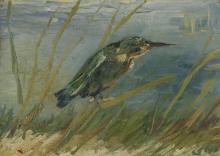 van Gogh, Martin pescatore sul bordo dell'acqua | IJsvogel aan de waterkant | Martin-pêcheur au bord de l'eau | Kingfisher by the waterside