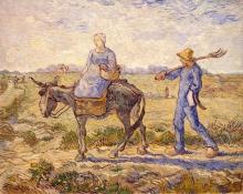 van Gogh, Mattino. Partenza per il lavoro (da Millet)   Matin. Départ pour le travail (d'après Millet)   Morning. Going to work (after Millet)