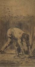 van Gogh, Mietitore con il falcetto (da Millet)   Moissonneur à la faucille (d'après Millet)   Reaper with sickle (after Millet)