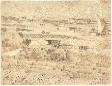 van Gogh, Mietitura - La piana di La Crau | Moisson - La plaine de La Crau | Harvest - The plain of La Crau