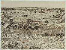 Van Gogh, Mietitura in Provenza (per Emile Bernard) | Ernte in der Provence (für Émile Bernard) | Moisson en Provence (pour Émile Bernard) | Harvest in Provence (for Émile Bernard)