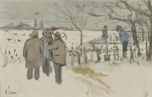 van Gogh, Minatori nella neve: inverno | Mijnwerkers in de sneeuw: winter | Mineurs dans la neige: hiver | Miners in the snow: winter
