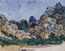 van Gogh, Montagne a Saint Rémy | Montagnes à Saint-Rémy | Mountains at Saint-Rémy