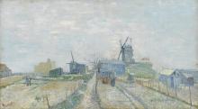 van Gogh, Montmartre: mulini e orti | Montmartre: molens en moestuinen | Montmartre: moulins et potagers | Montmartre: mills and vegetable gardens