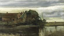 van Gogh, Mulino ad acqua a Gennep   Moulin à eau à Gennep   Watermill at Gennep