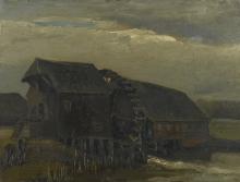 van Gogh, Mulino ad acqua ad Opwetten   Moulin à eau à Opwetten   Water mill at Opwetten
