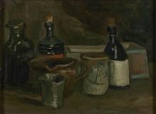 van Gogh, Natura morta con bottiglie e terraglie | Stilleven met flessen en aardewerk | Nature morte avec bouteilles et poteries | Still life with bottles and earthenware