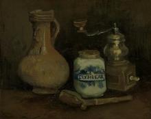 van Gogh, Natura morta con brocca con viso di uomo barbuto | Stilleven met baardmankruik | Still life with a bearded-man jar