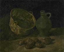van Gogh, Natura morta con caldaia di rame e orcio | Stilleven met koperen ketel en kruik | Nature morte avec chaudière en cuivre et cruche | Still life with copper boiler and pitcher