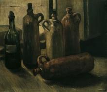 van Gogh, Natura morta con cinque bottiglie | Stillleben mit fünf Flaschen | Nature morte avec cinq bouteilles | Still-life with five bottles