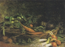 van Gogh, Natura morta con ortaggi in un cestino | Nature morte avec légumes dans un panier | Still life with a basket of vegetables | Gemüsekorb