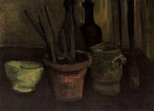 van Gogh, Natura morta con pennelli in un vaso da fiori | Nature morte aux pinceaux dans un pot à fleurs | Still-life with paint brushes in a pot