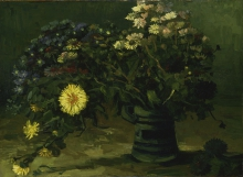 van Gogh, Natura morta con un mazzo di margherite | Nature morte avec un bouquet de marguerites | Still life with a bouquet of daisies
