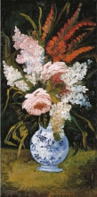 van Gogh, Natura morta- vaso con gladioli e lillà   Nature morte: vase avec glaïeuls et lilas   Still life: vase with gladioli and lilacs