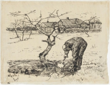 van Gogh, Nel frutteto | Dans le verger | Im Obstgarten | In the orchard