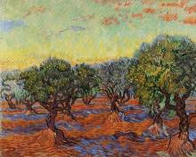 van Gogh, Oliveto, Saint Rémy | Olivskog, Saint-Rémy | Oliveraie, Saint-Rémy | Olive grove, Saint-Rémy