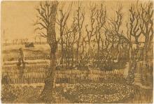 van Gogh, Paesaggio a Nuenen (Giardino in inverno) | Paysage à Nuenen (Jardin en hiver) | Landschaft bei Nuenen (Garten im Winter) | Landscape at Nuenen (Garden in winter)