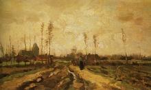 van Gogh, Paesaggio con chiesa e fattorie | Paysage avec église et fermes | Landscape with church and farms