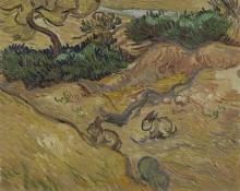 van Gogh, Paesaggio con conigli | Landschap met konijnen | Paysage avec lapins | Landscape with rabbits