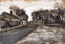 van Gogh, Paesaggio con ponte bianco   Landschap met witte brug   Landscape with a white bridge