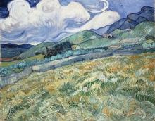 Vincent van Gogh, Paesaggio di Saint Rémy | Paysage de Saint-Rémy | Landscape from Saint-Rémy | Landskab fra Saint Rémy