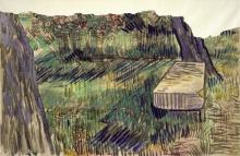 Van Gogh, Panca di pietra nel giardino del manicomio | Stenen bank in de tuin van de inrichting | Banc de pierre dans le jardin du asile | Stone bench in the garden of the asylum