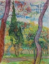 van Gogh, Parco dell'ospedale Saint Paul   Parc de l'hôpital Saint-Paul    Park of St. Paul's Hospital
