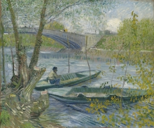 van Gogh, Pesca in primavera, il ponte di Clichy (Asnières) | Pêche au printemps, le pont de Clichy (Asnières) | Fishing in spring, the Pont de Clichy  (Asnières)