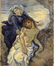 van Gogh, Pietà (da Delacroix)   Pietà (d'après Delacroix)   Pità (after Delacroix)