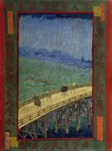 van Gogh, Ponte sotto la pioggia (da Hiroshige) | Brug in de regen (naar Hiroshige) | Pont sous la pluie (d'après Hiroshige) | Bridge in the rain (after Hiroshige)
