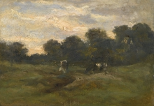 van Gogh, Prato con vacche | Prairie avec des vaches | Meadow with cows