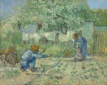 van Gogh, Primi passi (da Millet) | Premiers pas (d'après Millet) | First steps (after Millet)