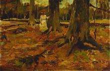 van Gogh, Ragazza nel bosco | Meisje in het bos | Fille dans la forêt | Girl in the woods
