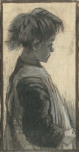 van Gogh, Ragazzina con il grembiule | Petite fille aux tablier | Young girl in an apron