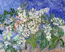 van Gogh, Rami di castagno in fiore | Blühende Kastanienzweige | Branches de marronniers en fleur | Blossoming chestnut branches