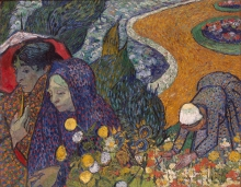 van Gogh, Ricordo del giardino a Etten (Signore di Arles) | Souvenir du jardin à Etten (Dames d'Arles) | Memory of the Garden at Etten (Ladies of Arles)