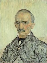 van Gogh, Ritratto del signor Trabuc | Portrait de Monsieur Trabuc | Portrait of Monsieur Trabuc | Der Irrenwärter von Saint-Rémy |