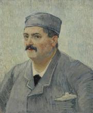 van Gogh, Ritratto di Etienne-Lucien Martin | Portret van Etienne-Lucien Martin |  Portrait d'Etienne-Lucienne Martin |  Portrait of Etienne-Lucienne Martin